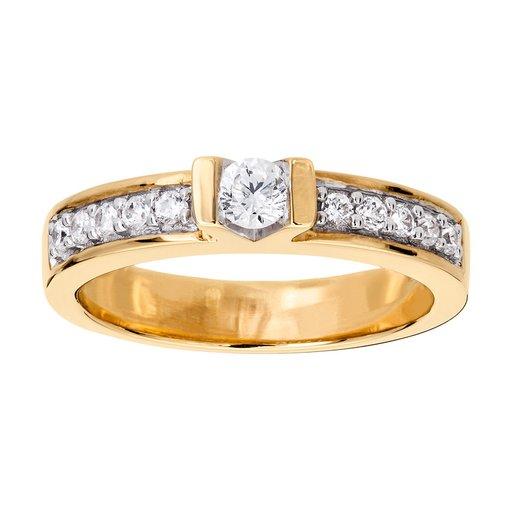 ccce6f60a487 Diamant ring i 18K guld - Albrekts Guld