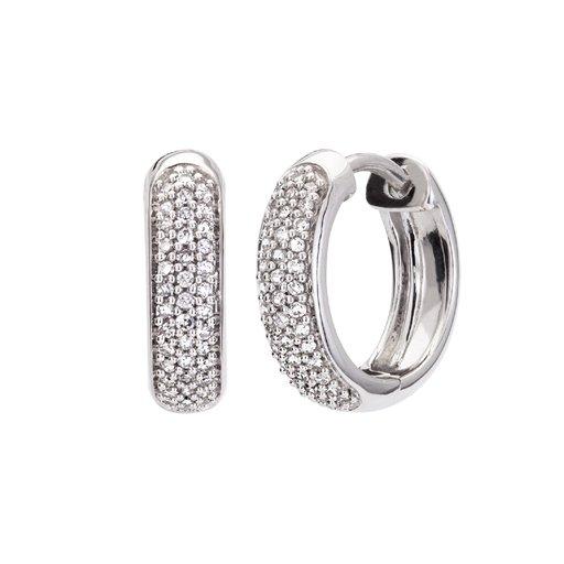 Diamantörhängen i 18K guld thumbnail