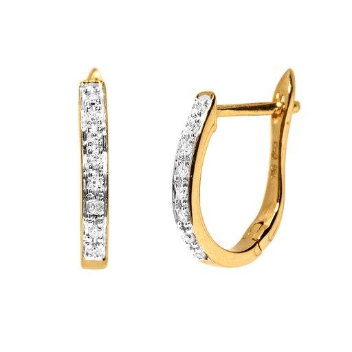 Diamantörhängen i 18K guld Albrekts Guld