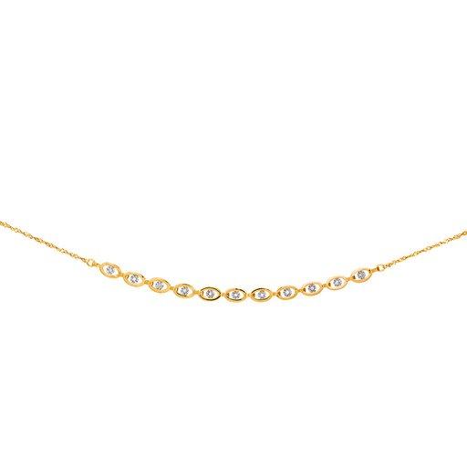 Diamanthalsband i 18K guld