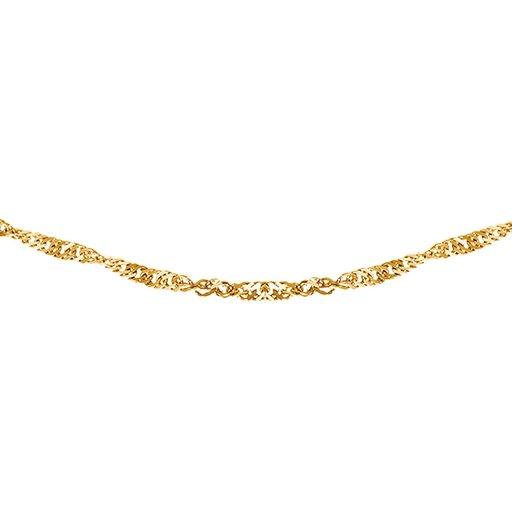 Kedja i 9K guld 45 cm