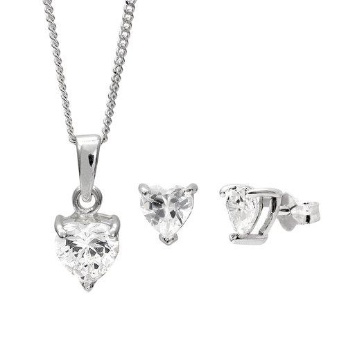 Halsband och örhängen i äkta silver