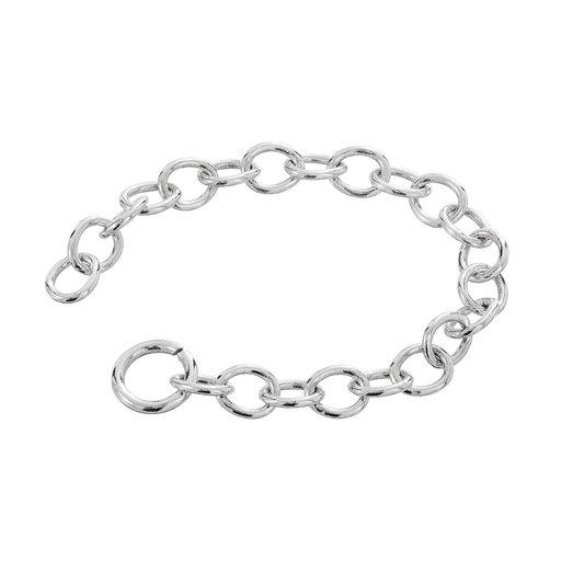 Förlängningskedja i silver 6cm