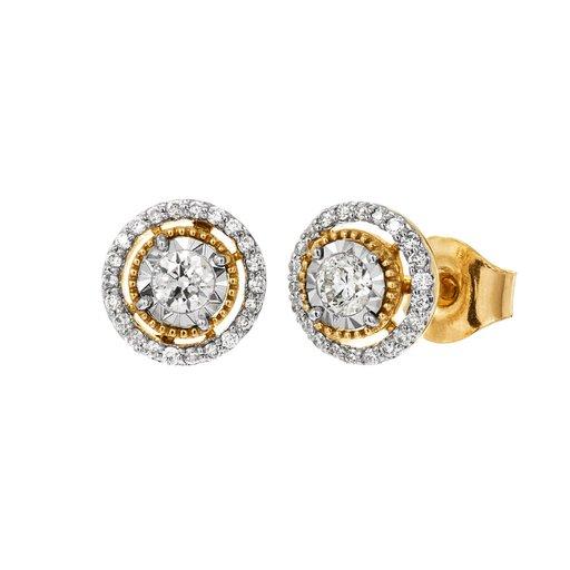 Diamantörhängen 18K guld