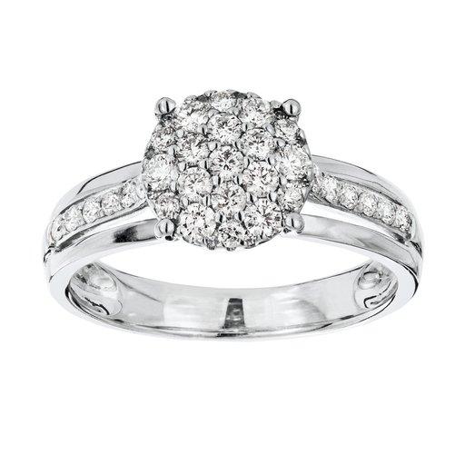 Diamant ring i 18K guld, 18.5