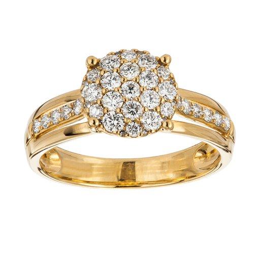 Diamant ring 18K guld, 18.5