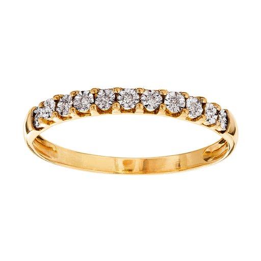 Diamantring guld, 15.5