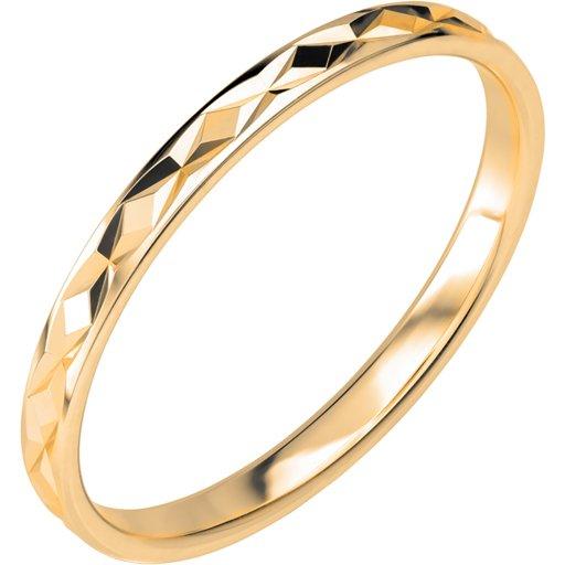 Förlovningsring i 9K guld 2mm, 46