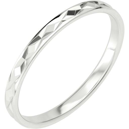 Förlovningsring i äkta silver 2mm, 61