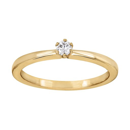 Diamantring solitär 18K, 20.0